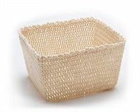 Home Textiles Crochet Basket Cream - L