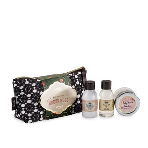 Gift Set Christmas Bag Green Rose