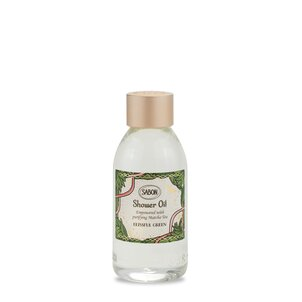 Travel size cosmetics Mini Shower Oil PET Blissful Green